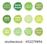 vector set of healthy organic... | Shutterstock .eps vector #452279896