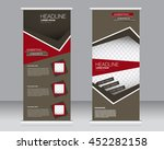 roll up banner stand template.... | Shutterstock .eps vector #452282158
