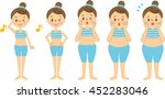 woman diet  before and after | Shutterstock . vector #452283046