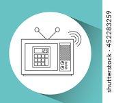 tv notice information isolated  ...   Shutterstock .eps vector #452283259