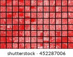 bright abstract mosaic red... | Shutterstock . vector #452287006