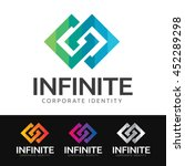 logo of 2 stylized squares in... | Shutterstock .eps vector #452289298