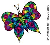 colorful butterfly for tattoo ...   Shutterstock .eps vector #452291893