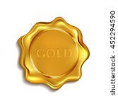 gold blank wax seal available... | Shutterstock .eps vector #452294590