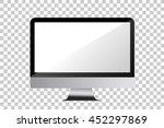 modern blank computer monitor ... | Shutterstock .eps vector #452297869