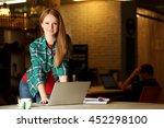 creative girl working with... | Shutterstock . vector #452298100