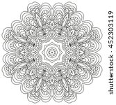outline mandala for coloring... | Shutterstock .eps vector #452303119
