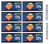 vector set of coupons with... | Shutterstock .eps vector #452308546