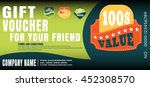 gift voucher vector... | Shutterstock .eps vector #452308570