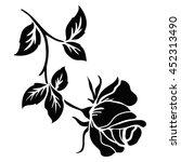 rose motif flower design...   Shutterstock .eps vector #452313490