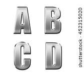 english alphabet steel font... | Shutterstock . vector #452315020