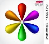 3d color drops circle   vector... | Shutterstock .eps vector #452315140