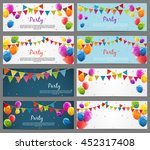 party background baner set with ... | Shutterstock .eps vector #452317408