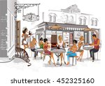 series of the streets with... | Shutterstock .eps vector #452325160