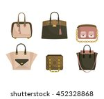 set of woman's bags in pink and ...