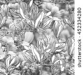 floral patten seamless with... | Shutterstock . vector #452334280