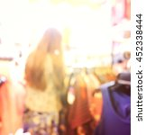 blurred people in the fashion... | Shutterstock . vector #452338444