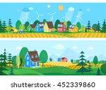 vector flat illustrations   eco ... | Shutterstock .eps vector #452339860