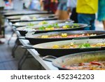 row of a traditional tasty... | Shutterstock . vector #452342203