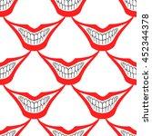 playing card joker or evil... | Shutterstock .eps vector #452344378