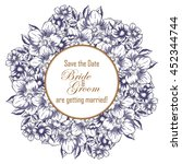 vintage delicate invitation... | Shutterstock . vector #452344744