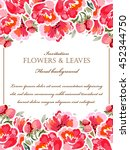 vintage delicate invitation... | Shutterstock .eps vector #452344750