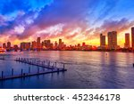 Miami Downtown Skyline Sunset...