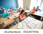 education  bullying  conflict ... | Shutterstock . vector #452347456