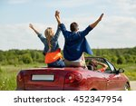leisure  road trip  travel and... | Shutterstock . vector #452347954