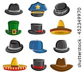 hats collection set. vector | Shutterstock .eps vector #452349970