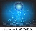digital  business  vector tech... | Shutterstock .eps vector #452349994