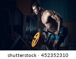 male bodybuilder  fitness model ... | Shutterstock . vector #452352310