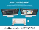 application development web... | Shutterstock .eps vector #452356240