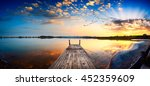 perspective view of a wooden... | Shutterstock . vector #452359609