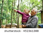 granddaughter with cute little... | Shutterstock . vector #452361388