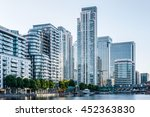 canary wharf  financial hub in... | Shutterstock . vector #452363830