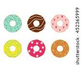 vector illustration of donuts... | Shutterstock .eps vector #452365999
