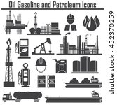 oil  icon set energy  ... | Shutterstock .eps vector #452370259