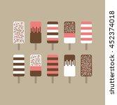 retro styled ice cream set.... | Shutterstock .eps vector #452374018