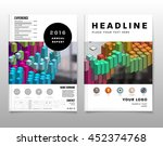 2 business abstract template... | Shutterstock .eps vector #452374768