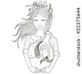 mermaid in the bank | Shutterstock .eps vector #452375644