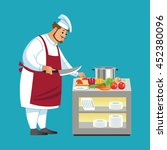 vector cooking bread miller...   Shutterstock .eps vector #452380096