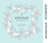 shabby chic. vintage square... | Shutterstock .eps vector #452384590