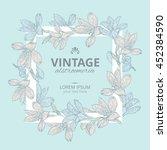 shabby chic. vintage square... | Shutterstock .eps vector #452384590