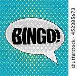 isolated pop art bingo on a...   Shutterstock .eps vector #452385673