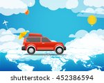 take vacation travelling... | Shutterstock .eps vector #452386594