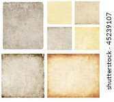 set of great paper textures... | Shutterstock . vector #45239107