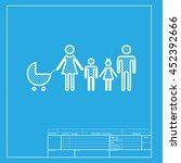 family sign illustration. white ... | Shutterstock . vector #452392666