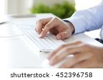 close up image of hands working ... | Shutterstock . vector #452396758