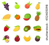 fruit harvest icons set  grape  ... | Shutterstock .eps vector #452405098